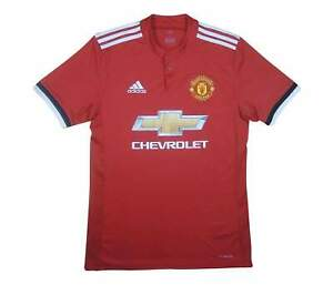 Manchester-United-2017-18-Authentic-Home-Shirt-eccellente-S-Soccer-Jersey