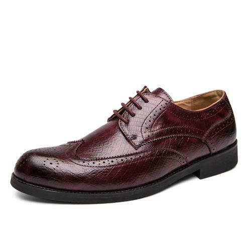 Details about  /Brogue Mens Dress Formal Business Leisure Shoes Pointy Toe Work Office Wedding L