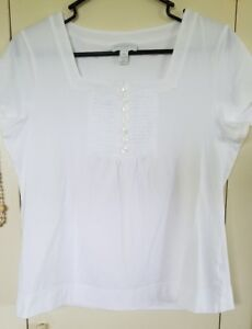 Charter-Club-Womens-Top-Square-Scoop-Neck-Short-Sleeve-Tee-T-Shirt-TierWhite-PM