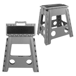 39cm High Plastic Folding Heavy Duty Step Stool With