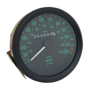 200 Kph To Mph >> Black Face Dual Reading Speedometer 120 Mph 200 Kph R65
