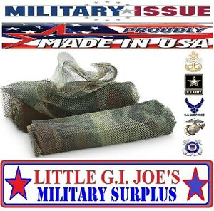 "(1) NEW Military Issue USGI Body Sniper Veil Woodland Camouflage Netting 96""x60"""