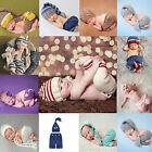 0-4M Baby Infant Newborn Knit Costume Photography Prop Crochet Hat Pants Outfits