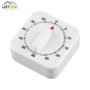 1 Hour 60 Mins Mechanical Kitchen Cooking Timer Game Alarm Count Down Timer Tool