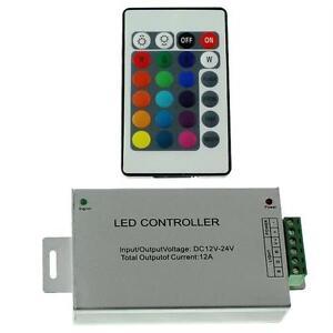 RGB-LED-IR-Controller-Remote-Steuerung-24Key-Fernbedienung-12-24V-12A