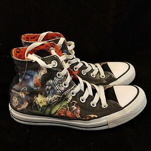 81e644917cfd47 JUSTICE LEAGUE DC CONVERSE CHUCK TAYLOR HIGH TOP SNEAKER ADULT SIZE ...