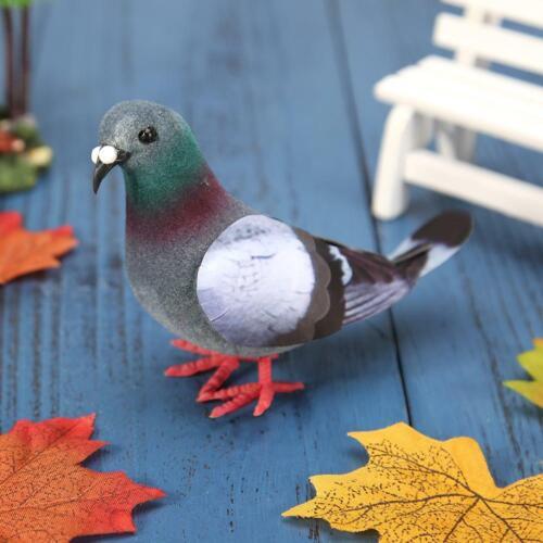 Simulation Foam Pigeon Model Fake Artificial Imitation Bird Garden Ornament UK