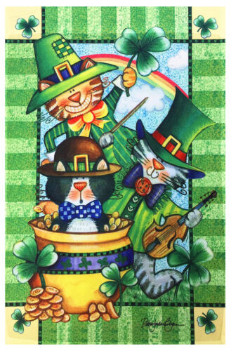 "NEW St Patrick/'s Day Decorative Garden Flag 12/""X18/"" Designer Artwork Banner"