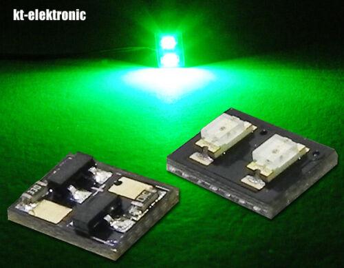 módulo LED con 2 SMD LED verde 525nm y 20ma ksq en el reverso 5v-24v 1 stk
