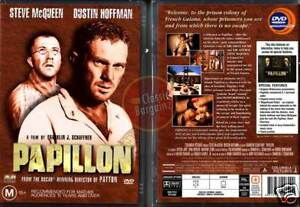 PAPILLON-Steve-McQueen-Dustin-Hoffman-butterfly-NEW-DVD-Region-4-Australia