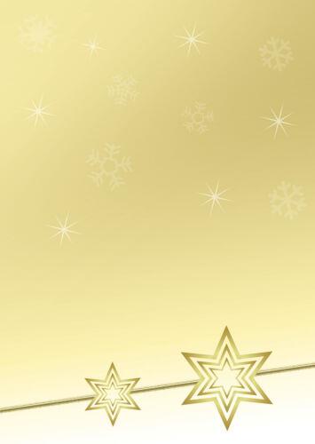 Motivpapier Briefpapier gelbe Weihnachtssterne  20 Blatt  A4 Weihnachten Sterne