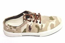 Mens Polo Ralph Lauren Faxon Low Brown/Green Camouflage Shoes 9.5D NWOB