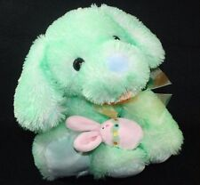 Walmart Mint Green Puppy Dog Plush floppy Lovey Stuffed Easter Carrot Bunny Egg