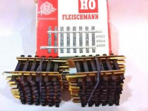 19 X Fleischmann Oo Ho 6004 Train Track Straight 40 Mm Vintage New X Shop Stock