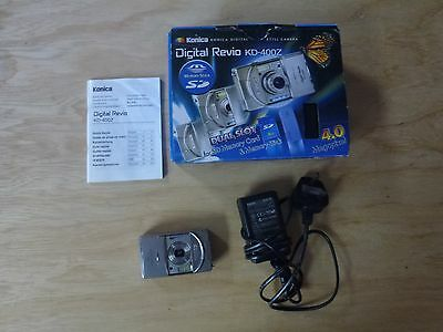 Boxed Konica Kd-400z 4mp Dual Memory Digital Camera,charger, Battery,tripod-£175 Crazy Prijs