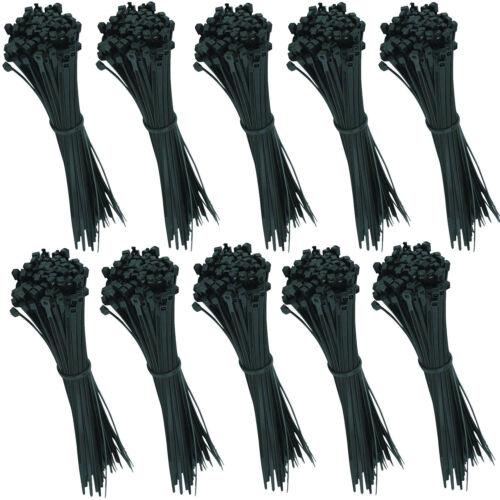 100 bridas calidad industrial negro 200 mm x 4,8 mm cable viga reticulada set