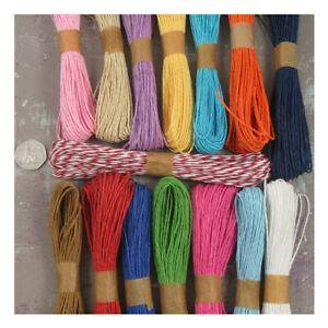 25-METRES-PAPER-CORD-RAFFIA-TWINE-CRAFT-ROPE-STRING-1-5mm-APPROX-15-COLOURS