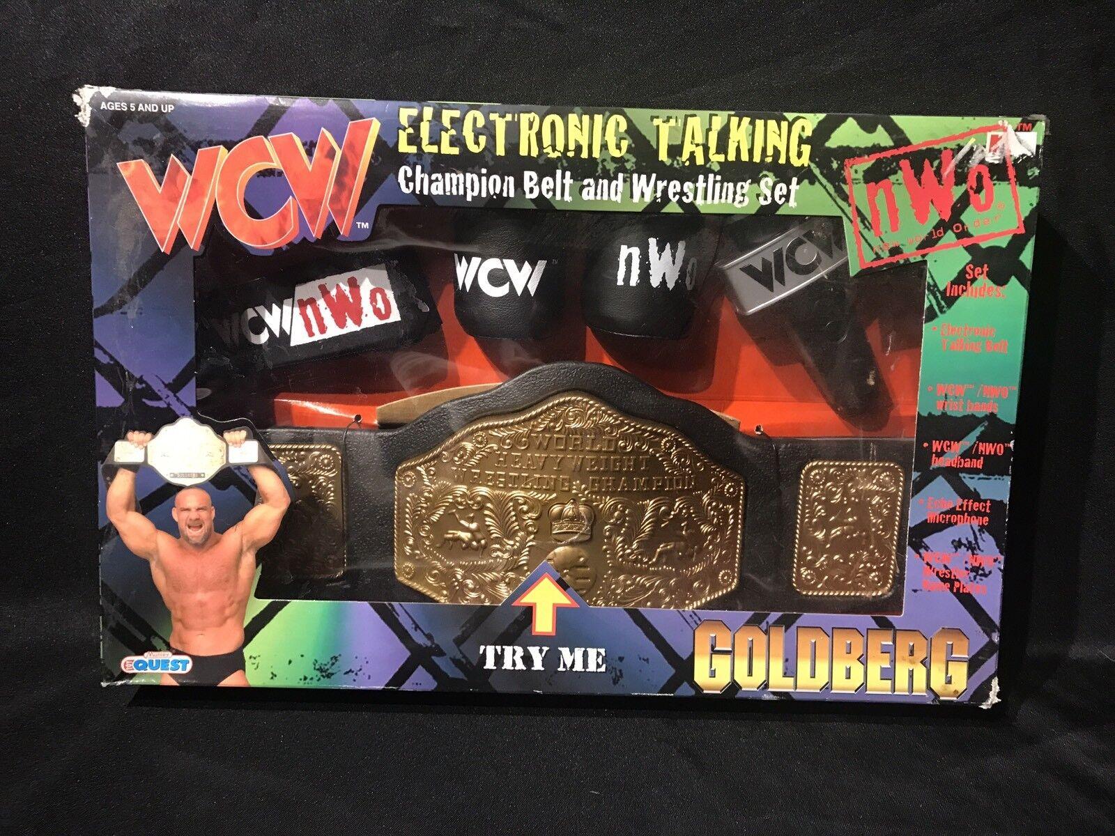 1998 WCW orberg Electronic talking Champion Ceinture & Wrestling Set Nouveau