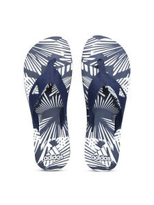 fe4890181a2650 Details about NEW Adidas Men s Navy   White Aril Attack Printed Flip-Flops