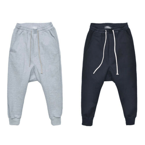 Thick Strong Jersey Flap Pocket Drop Crotch Baggy Jogger Sweatpants By Guylook