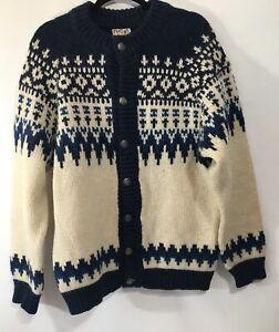 Details about Vintage Runox Brown Cream WoolSweater Denmark Scandia Strik See Measurements