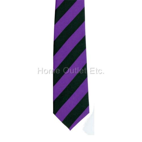 """3/"""" Thick Diagonal Striped Neck Tie 2-Tone Casual Wide Print Pattern Polyester"""