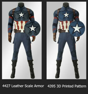 Avengers 4 Endgame Cosplay Captain America Costume Men Outfits Suits Halloween