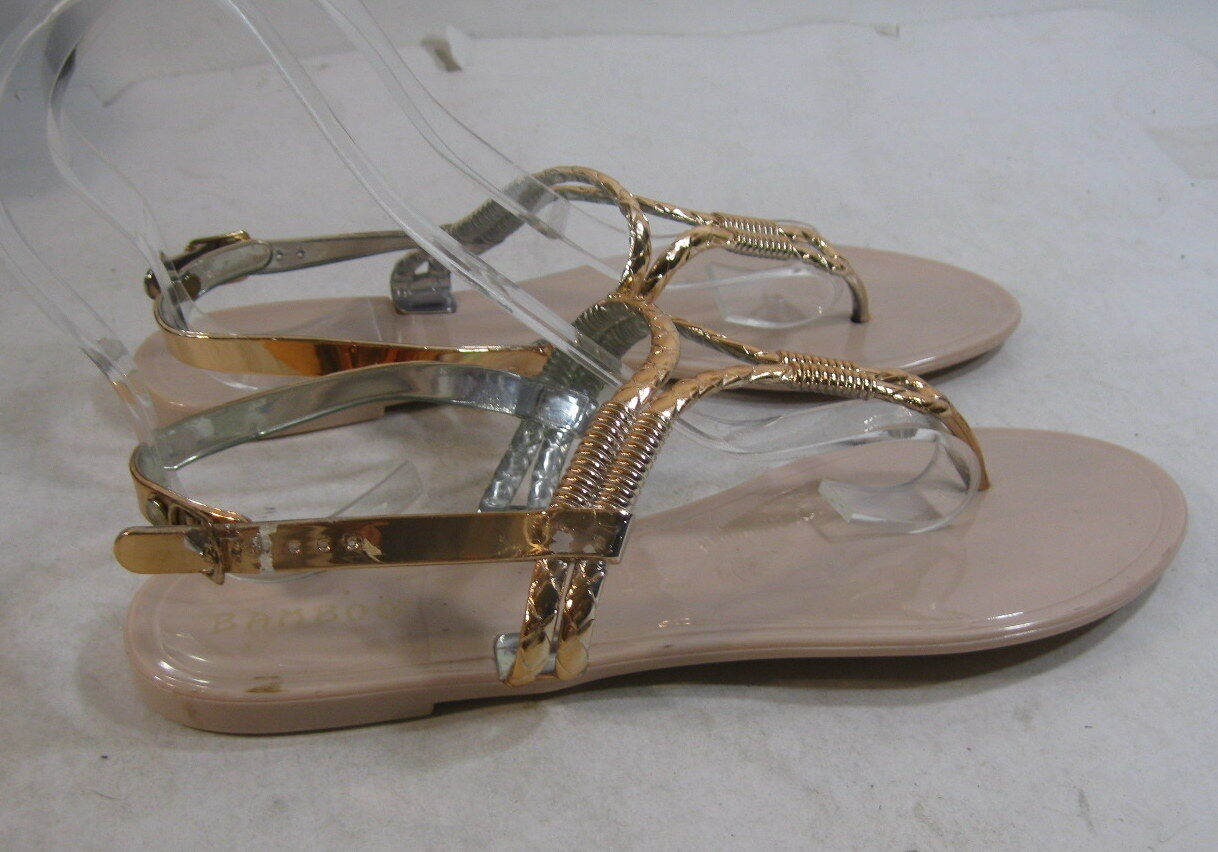 New Walking Cradles Bronze Gold Wedge Slides Rhinestones sz 13 B