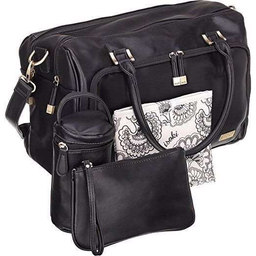 Isoki Baby Diaper Bag With 13 Pockets Premium Large Blue Tote 4 Accessories Ebay