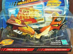 DISNEY DIECAST VILLAIN SCAR & SIMBA LION KING Wild Racers &Licenses VINTAGE 2002