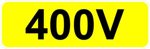 DECAL PRINTED STICKER CHOICE OF SIZES QTY X 5 YELLOW CCTV IN OPERATION
