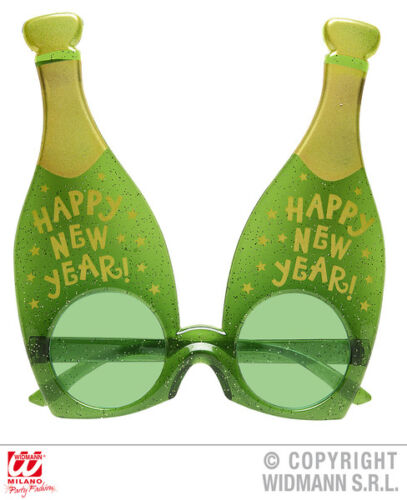 Happy New Year Champagne Glasses Bottle Celebration New Years Eve Party Props