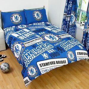 Chelsea-Fc-Set-Housse-de-Couette-Double-Neuf-Football-Literie