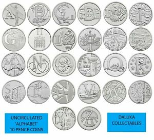 ROYAL MINT 2018 Alphabet 10p Coins A-Z Great British Coin Hunt Uncirculated