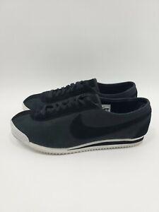 Nike-Cortez-039-72-Classic-863173-001-Black-Metallic-Pewter-White-Suede-Mens-Sz-11