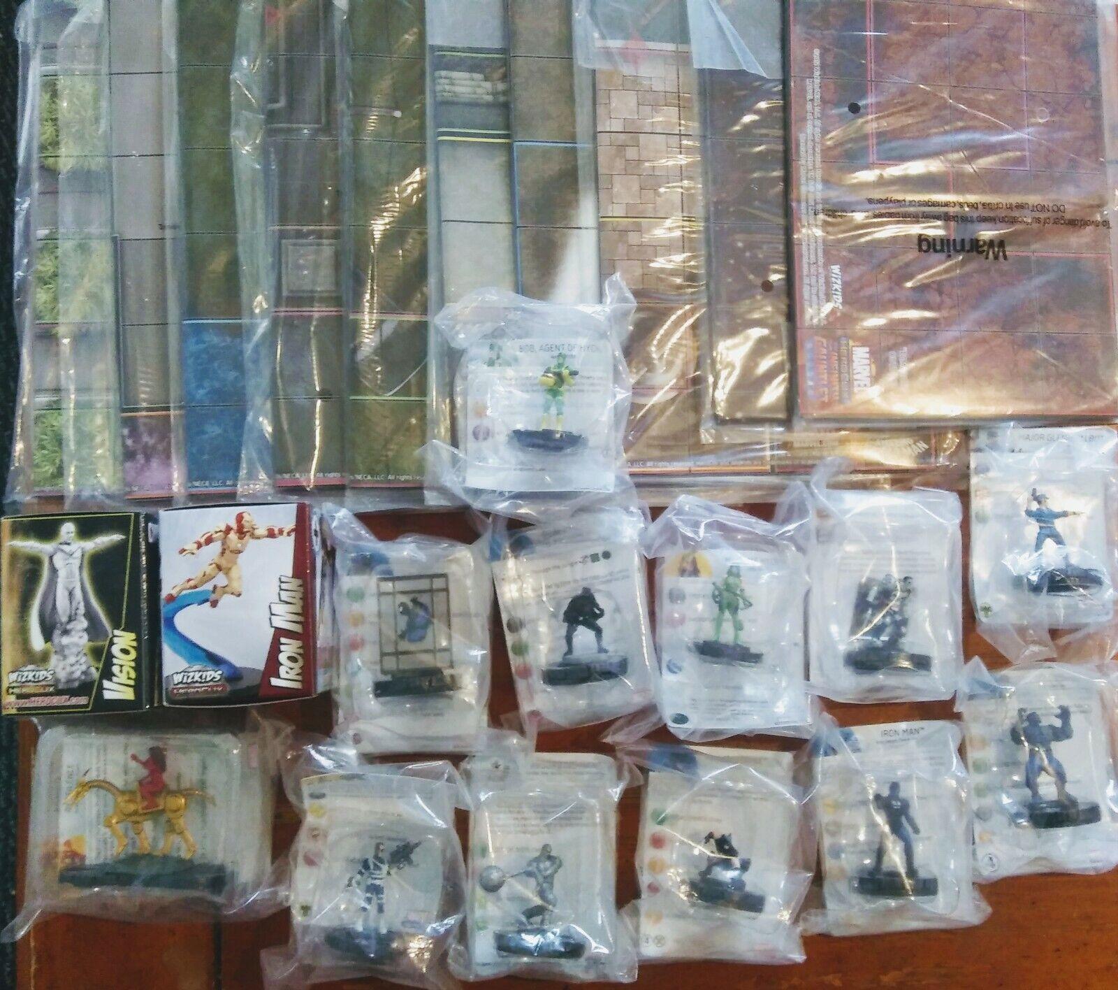 Lote de Heroclix Marvel Marqués, Figuras, Mapas - 24 piezas
