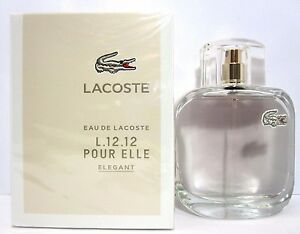 LACOSTE EAU DE LACOSTE L.12.12 POUR ELLE ELEGANT EDT Spray 3.0 Oz ... 3f1e489e7ae06