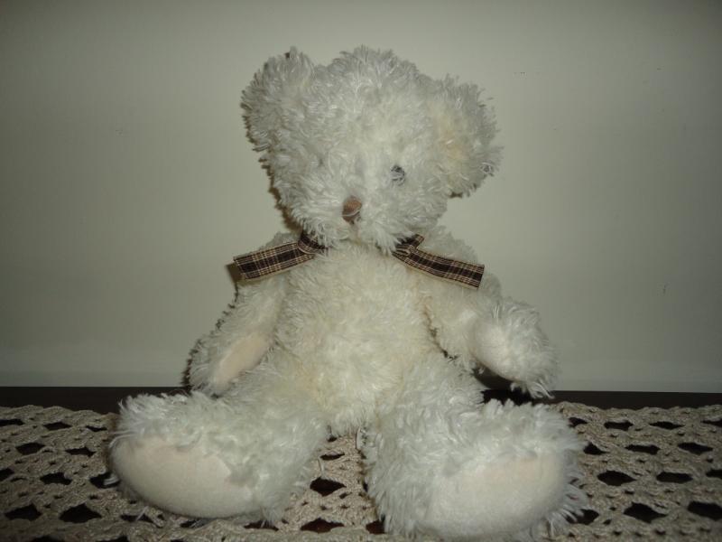 Russ Berrie NINA Teddy Bear 12 inch Cream Plush