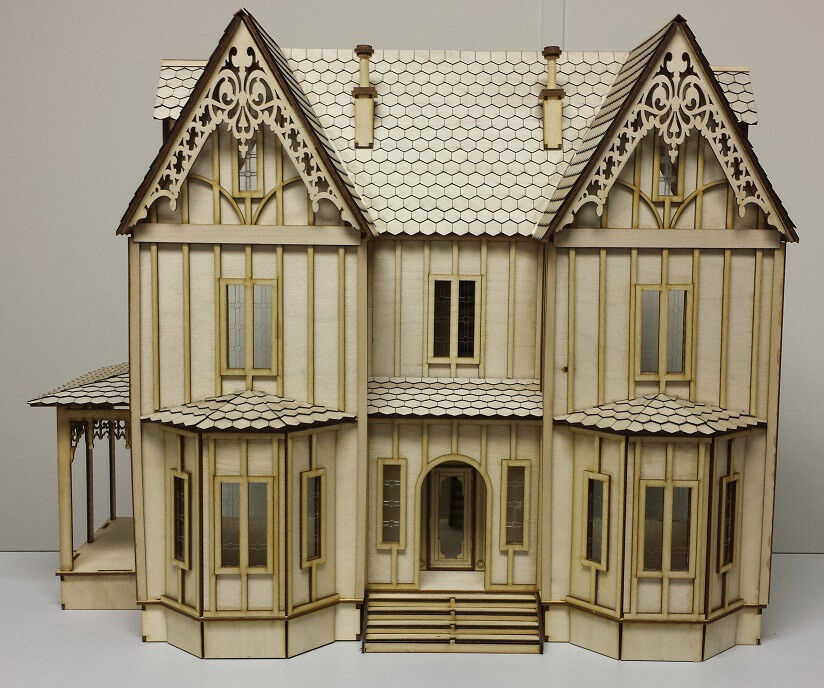 Kristiana Tudor 1 24 scale dollhouse Kit WITHOUT SHINGLES