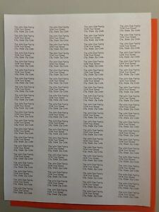 1200 - Personalized / Printed Return Address Labels - 1/2 x 1 3/4