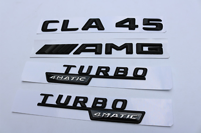 2018 CLA45 High Quality flat Rear Trunk Emblem Decal Badge FOR Mercedes Benz