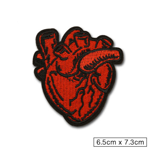 Embroidered Heart Love Sew On Iron On Patch Badge Dress Fabric Craft Transfer