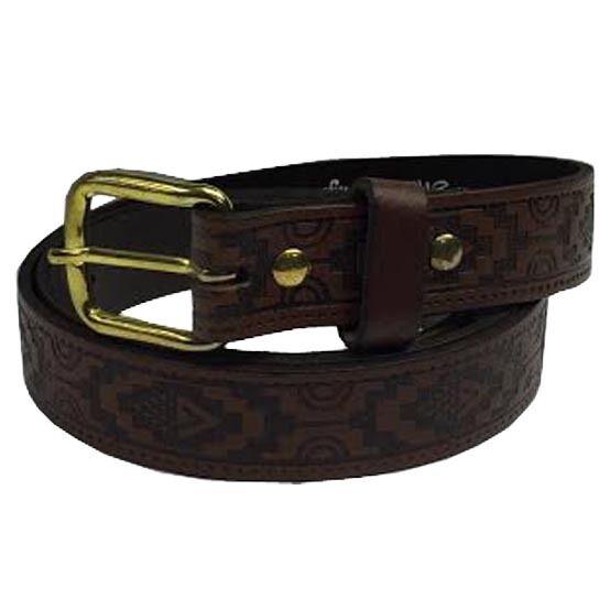25mm manchado tan Azteca Relieve Hecho a Mano Jean 100% Cinturón de cuero Hecho en Inglaterra