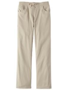 16 NEW CAT /& JACK Girls school uniform flat khaki pants Brown//tan 5 8 10 10