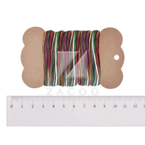 15pcs Waxed Cotton Cord Thread Jewelry Making Necklace Bracelet 1x1mm Assorted