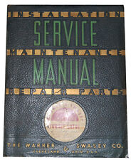 Warner Amp Swasey No 5 Lathe Service Instructions Amp Parts Manual 1956