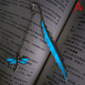 1X Luminous Night Dragonfly Bookmark Label'Read Maker Book Mark StationerySilver