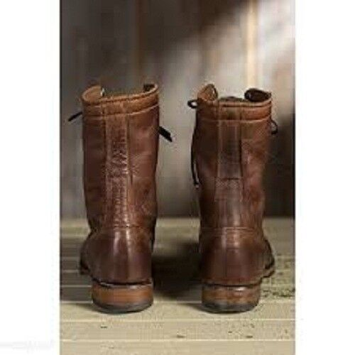 Handmade Men braun Military Stiefel, Men braun high high high ankle combat Stiefel, Men Stiefel c6cbd2