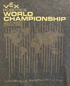Vintage VEX Robotics World Championship 2018 Louisville, Kentucky T-Shirt Size S