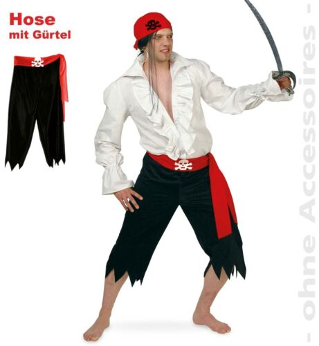 XXL Kostüm Pirat Fasching Kostüm 1211965G13 Piratenhose schwarz mit Gürtel M